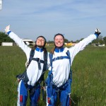 being happy after skydive