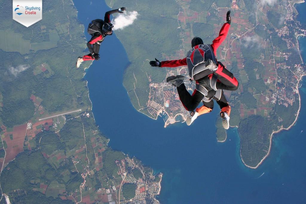 Skydive Vrsar in a tandem